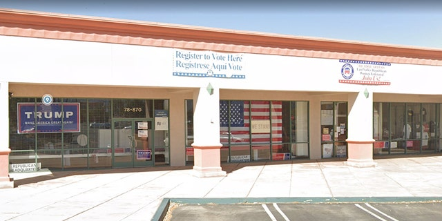 A California man, 23, has been charged with attempted arson for the May 31 firebombing of the East Valley Republican Women Federated office in La Quinta, according to reports. (Google Street View)