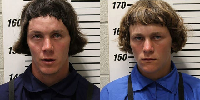 Aaron C.M. Schwartz, 22, (left) and Petie C.M. Schwartz, 18, were convicted of having sex with their underage relative. (Webster County Sheriff's Office)