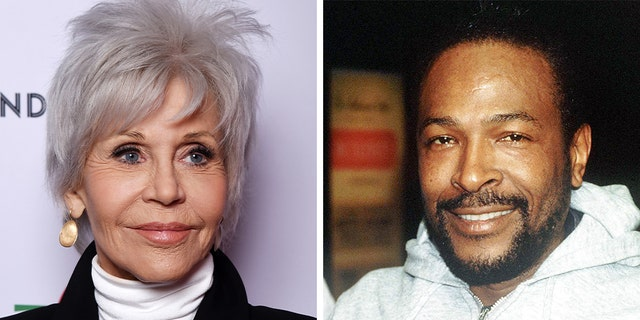 Jane Fonda and Marvin Gaye
