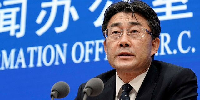Director-general of Chinese Disease Control and Prevention Gao Fu speaks during a news conference on prevention and control of the new coronavirus related pneumonia in Beijing, China January 22, 2020.