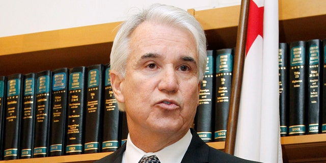 San Francisco District Attorney George Gascon speaks at a news conference concerning the sentencing in San Francisco Sheriff Ross Mirkarimi's domestic abuse case at San Francisco County Courthouse.