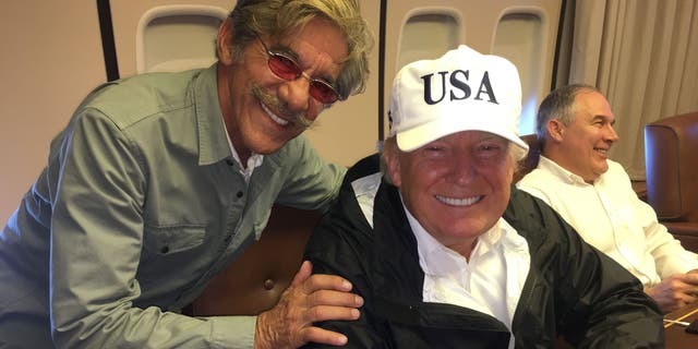 Geraldo and President Trump on the trip to Puerto Rico in 2017.