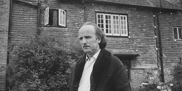 British builder Frank Thorogood at Brian Jones's house, Cotchford House, Hartfield, UK, 3rd July 1969. Rolling Stones band member Brian Jones drowned in the swimming pool of the house on that day.