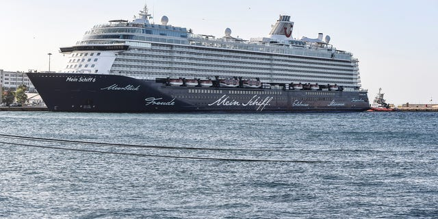 The Mein Schiff 6 cruise ship is docked at Piraeus port, near Athens on Tuesday, Sept. 29, 2020. Greek authorities say 12 crew members on a Maltese-flagged cruise ship carrying more than 1,500 people on a Greek islands tour have tested positive for coronavirus and have been isolated on board. (Photo by Dimitris Lampropoulos/NurPhoto via Getty Images)