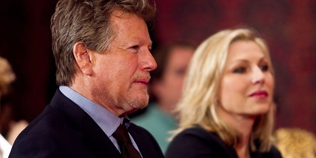Actor Ryan O'Neal and his actress daughter Tatum O'Neal attend a Farrah Fawcett memorabilia donation ceremony at the Smithsonian National Museum of American History on Feb. 2, 2011 in Washington, DC. Fawcett died of cancer on June 25, 2009. (Photo by Paul Morigi/WireImage)