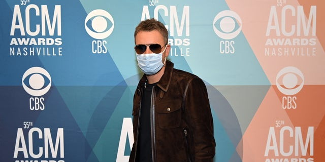 Eric Church attends the 55th Academy of Country Music Awards at the Grand Ole Opry on Sept. 14, 2020, in Nashville, Tenn. The ACM Awards airs on Sept. 16, 2020, with some live and some prerecorded segments. (Getty Images)