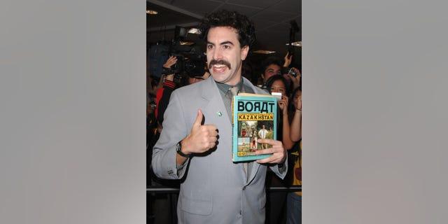 Sacha Baron Cohen stars as Borat.