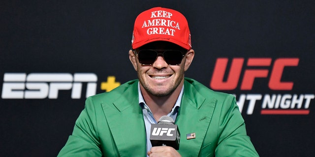 Colby Covington is an unabashed Trump supporter.  (Photo by Jeff Bottari / Zuffa LLC)