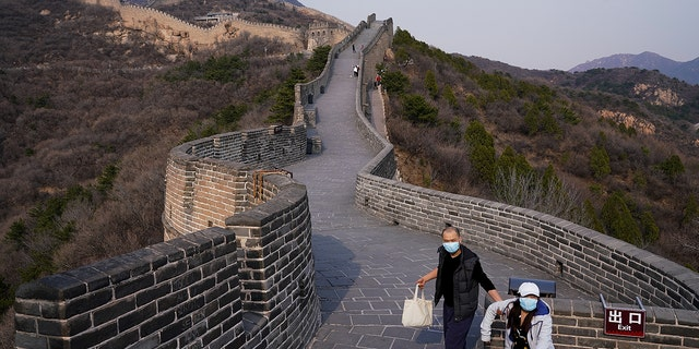 Following a temporary closure brought on by the coronavirus pandemic, parks of the Great Wall were reopened in March. (Lintao Zhang/Getty Images)