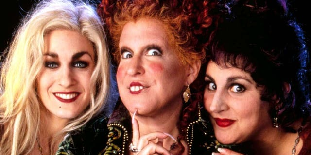 Sarah Jessica Parker (left), Bette Midler (center) and Kathy Najimy starred in the 1993 Disney film 'Hocus Pocus.' A sequel to the film is in the works at Disney+ while Disney Channel is planning a remake.