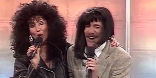 "Geraldo Rivera, seen here with Cher, said he was ""he first rock and roll newsman."""