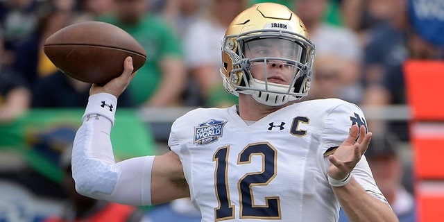 The 10th-ranked Fighting Irish are giving up their football independence for this year to play for the Atlantic Coast Conference championship. (AP Photo/Phelan M. Ebenhack, File)