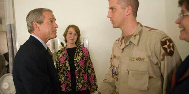 Daniel Gade and former President George W. Bush (Gade For Virginia)