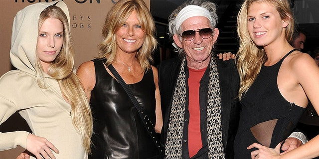 Alexandra Richards (right) says her father Keith Richards is proud of her work.