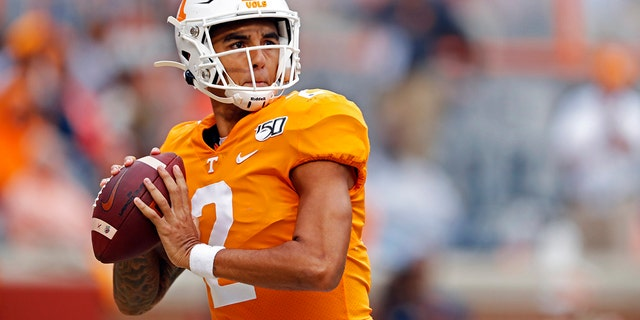 Jarrett Guarantano and the 16th-ranked Tennessee Volunteers are about to find out how much having the same offensive coordinator for consecutive seasons can help a quarterback. (AP Photo/Wade Payne, File)