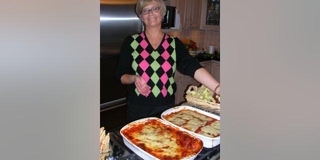 "Kathy Doocy with ""Engagement Lasagna"""