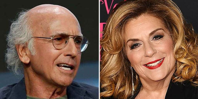 Larry David and Caroline Aaron.