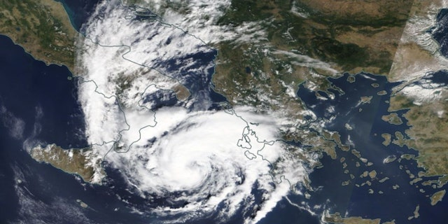 """A """"medicane"""" will impact Greece by Friday, according to forecasters."""