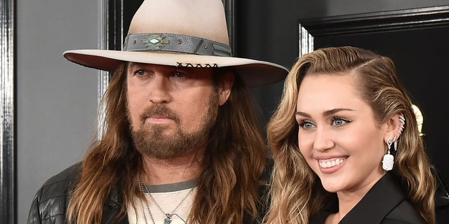 Billy Ray Cyrus, Miley Cyrus attend the 61st Annual Grammy Awards at Staples Center on February 10, 2019 in Los Angeles, California.