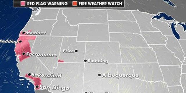 The greatest wildfire danger for Sept. 28, 2020.