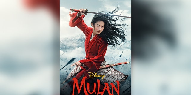 "The poster for the remake of ""Mulan."""