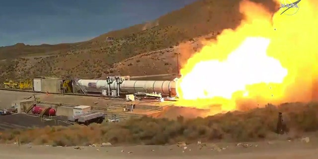 NASA Test Northrop Grumman Booster Chosen to Power SLS Rocket