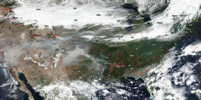 The Suomi NPP satellite, which is operated by NOAA and NASA, captured an image of fires across America on Sep. 07, 2020.