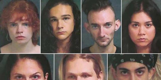 "The seven ""comrades"" — including wealthy Upper East Sider Clara Kraebber — had their mug shots tweeted out by the NYPD early Wednesday, days after their arrests for smashing storefront windows in the Flatiron District."