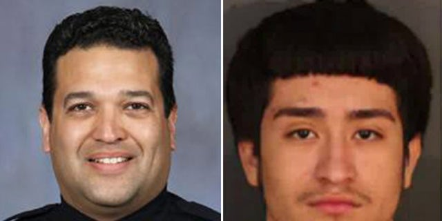 """Felipe Vazquez, right, is expected to face a murder charge in the shooting death ofpolice investigator Luis """"Mario"""" Herrera."""
