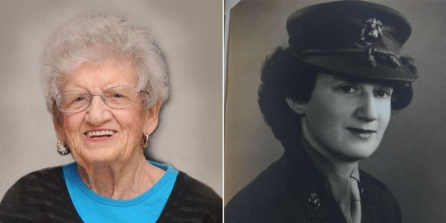 Sgt. Dot Cole joined the Marines in 1943. (Courtesy: City of Kannapolis)