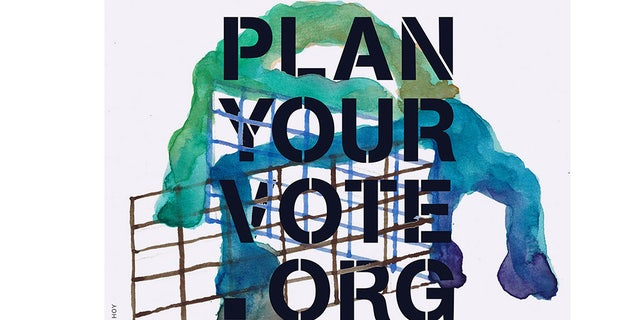 "The ""Plan Your Vote"" website created a digital library of voting advocacy visuals for citizens to download for free and circulate. (Plan Your Vote)"