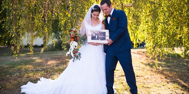 Bride, Jessica Russell, and husband, Rich Stover, were given a chocolate affair to remember for their September wedding.