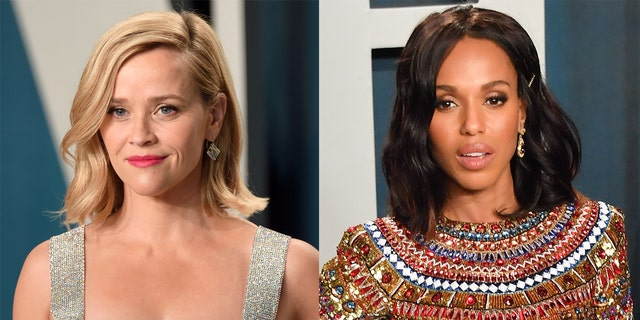 Reese Witherspoon (left) and Kerry Washington (right) threw a 'New Year's Eve' party while remotely viewing the 2020 Emmy Awards.
