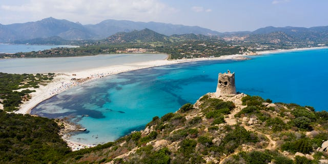 The unnamed individual was caught with a plastic bottle full of sand from one of the island of Sardinia's beaches.