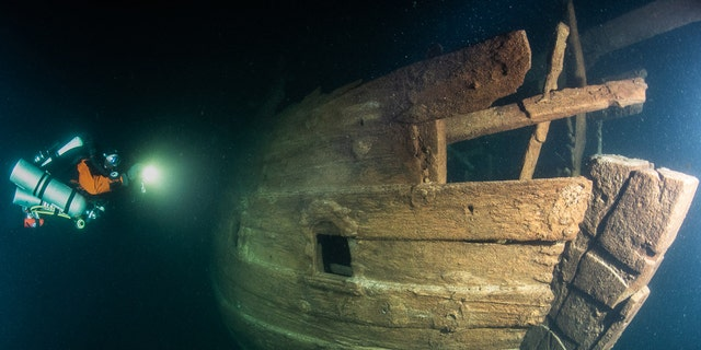 The wreck was discovered at the mouth of the Gulf of Finland.