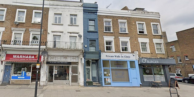 The five-floor West London property measures just 5-feet, 5-inches at its narrowest part.