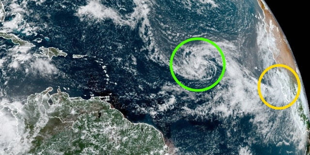 Two tropical depressions across the Atlantic are expected to become tropical storms on Monday.