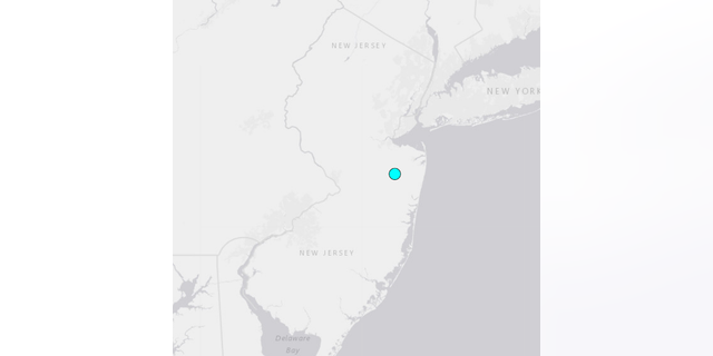 The earthquake struck in East Freehold, New Jersey, early Wednesday morning, the U.S. Geological Survey reported.