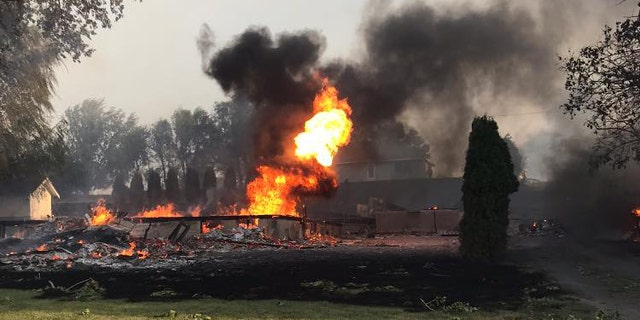 A fast-moving wildfire destroyed 80% of Malden. Wash. on Monday, according to officials.
