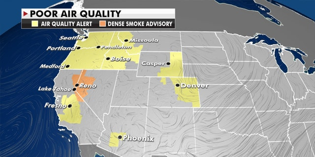 Air quality in the West is still being impacted by ongoing wildfires in the region.