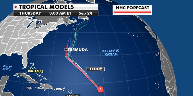 Forecast models show Hurricane Teddy could come closer to New England by next week.