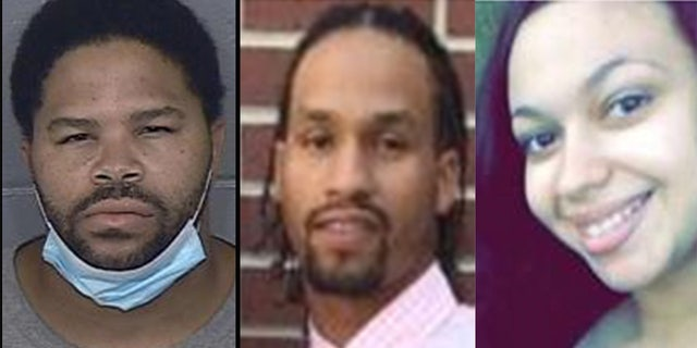 Photo, left, is mugshot for Yanez Sanford, 38. Photos, center and right, show Dominique Ray, 23 and Camrah Trotter, 20.