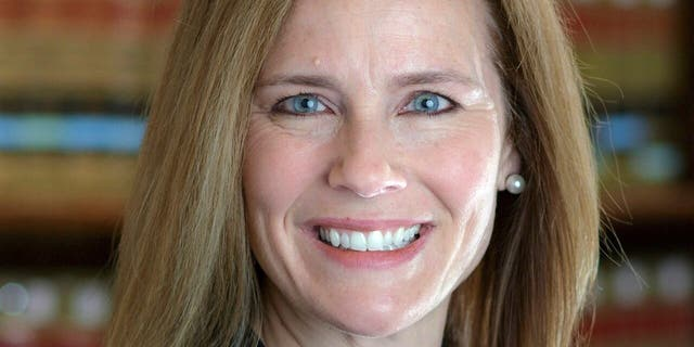 This 2017 photo provided by the University of Notre Dame Law School in South Bend, Ind., shows Judge Amy Coney Barrett. (University of Notre Dame Law School via AP)