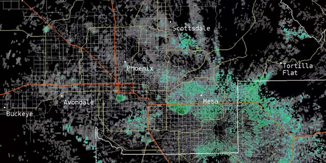 Huge bat colonies were picked up on weather radar in Phoenix, Ariz. on Sept. 13, 2020.