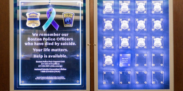The memorial unveiled Tuesday at the headquarters of the Boston Police Department. (BPD News)