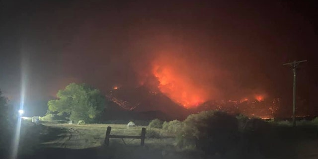 The Slink Fire in Mono County, California, began on Saturday and was sparked by a lightning strike.