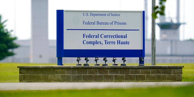 The federal prison complex in Terre Haute, Ind on Aug. 28, 2020. (AP Photo/Michael Conroy, File)