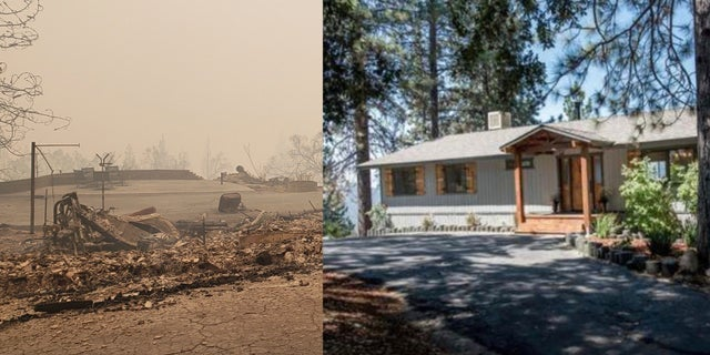 The Gillett's home in Pine Ridge, California, was completely destroyed by the fires on the same night their family business was scorched.