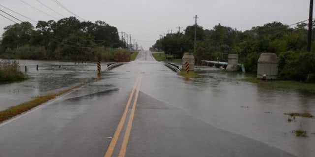 Flooding was also reported in parts of Harris County, Texas.
