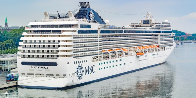 The MSC Poesia, pictured.